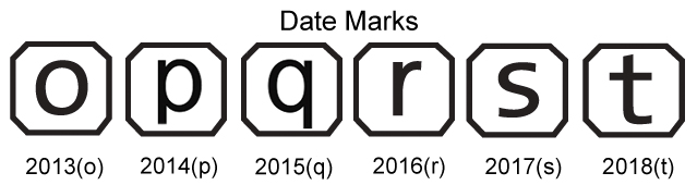 example of date marks on hallmarks